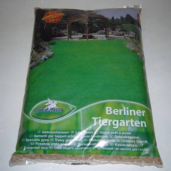 Raseneinsaat Berliner Tiergarten
