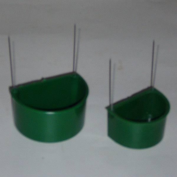 Halbrundnapf Wellensittich, grün