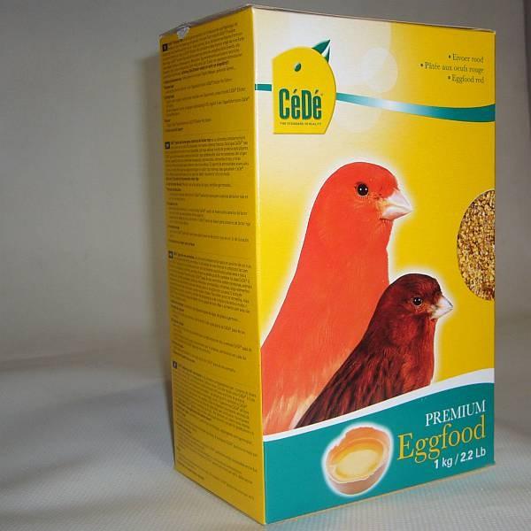 CeDe Eifutter rot für Kanarien