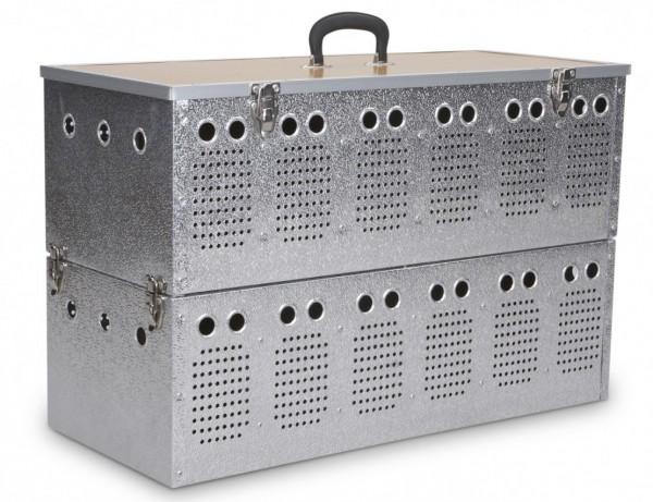 Witwerkorb Doppelstock aus Aluminium für 12 Tauben